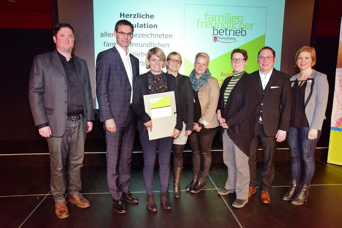Foto: Land Vorarlberg/Micheli, Familienfreundlicher Betrieb 2018-19