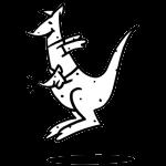 Känguruh Babysitting Logo
