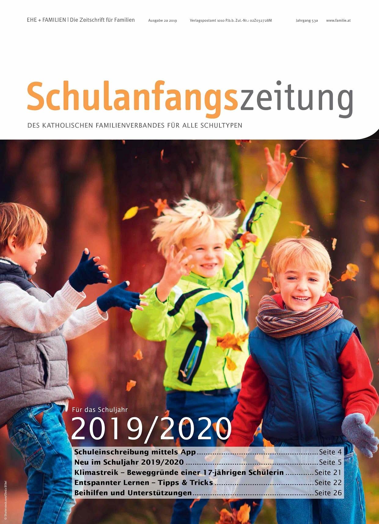 Druckfrisch: Die Schulanfangszeitung 2019/20