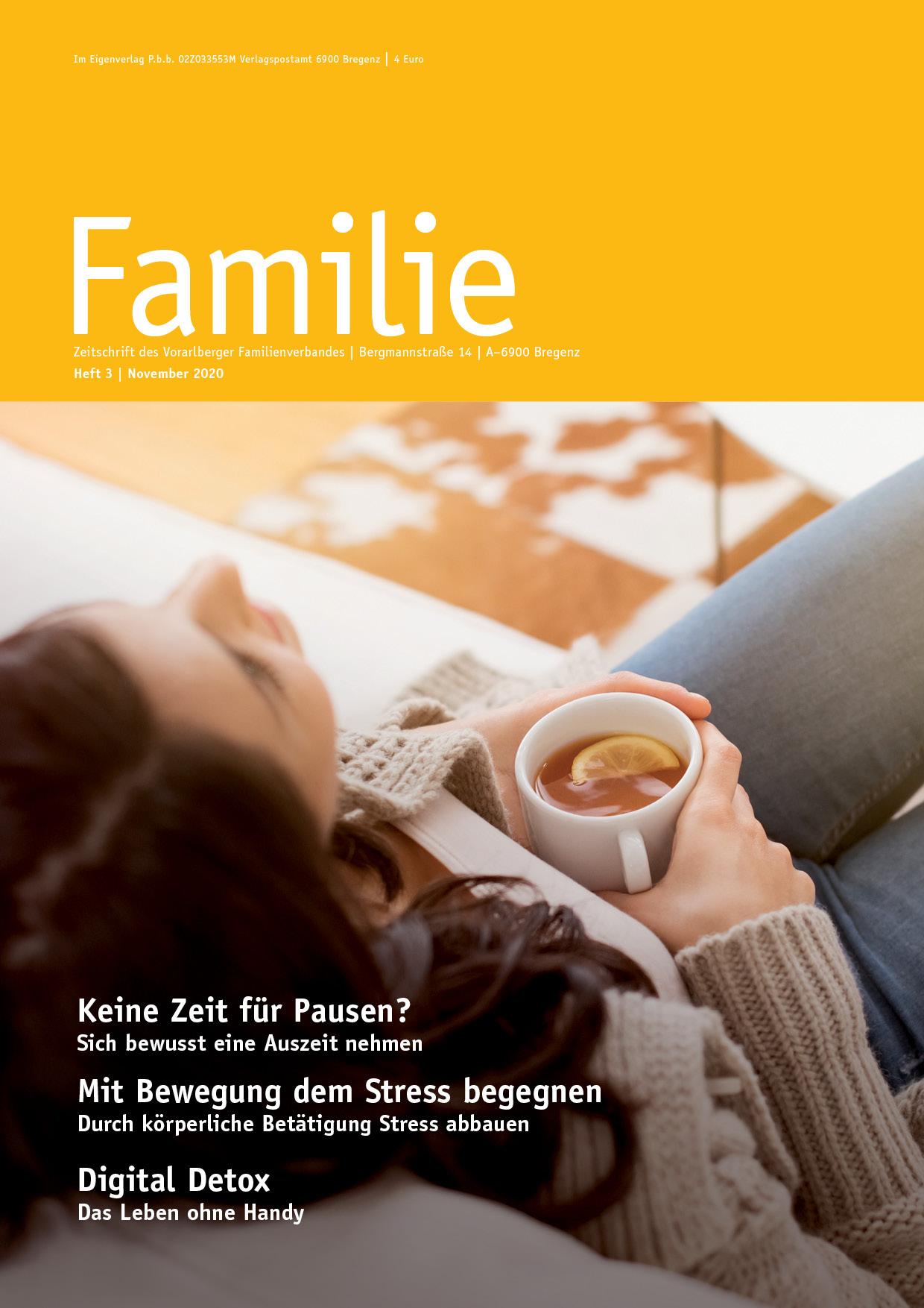 Zeitschrift FAMILIE: Herbstausgabe 2020