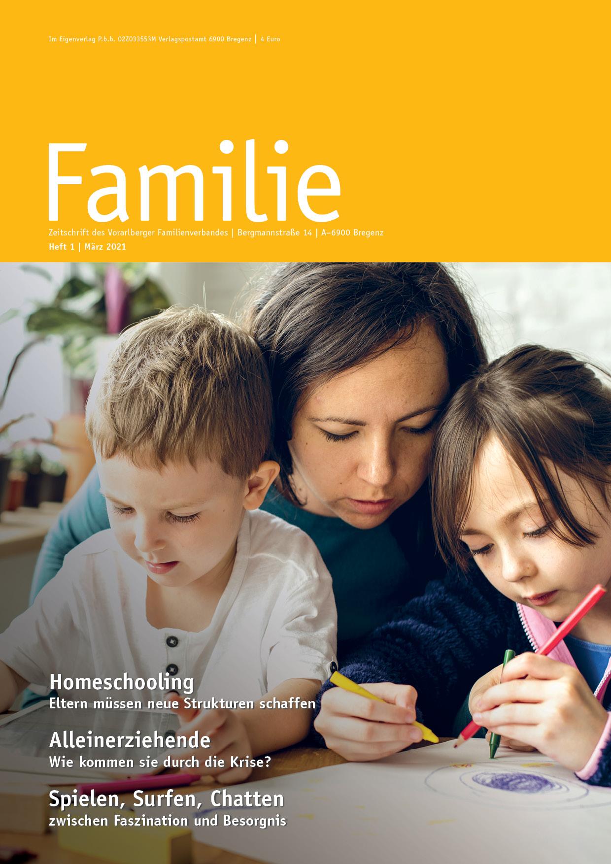 Zeitschrift FAMILIE: Frühjahrsausgabe 2021