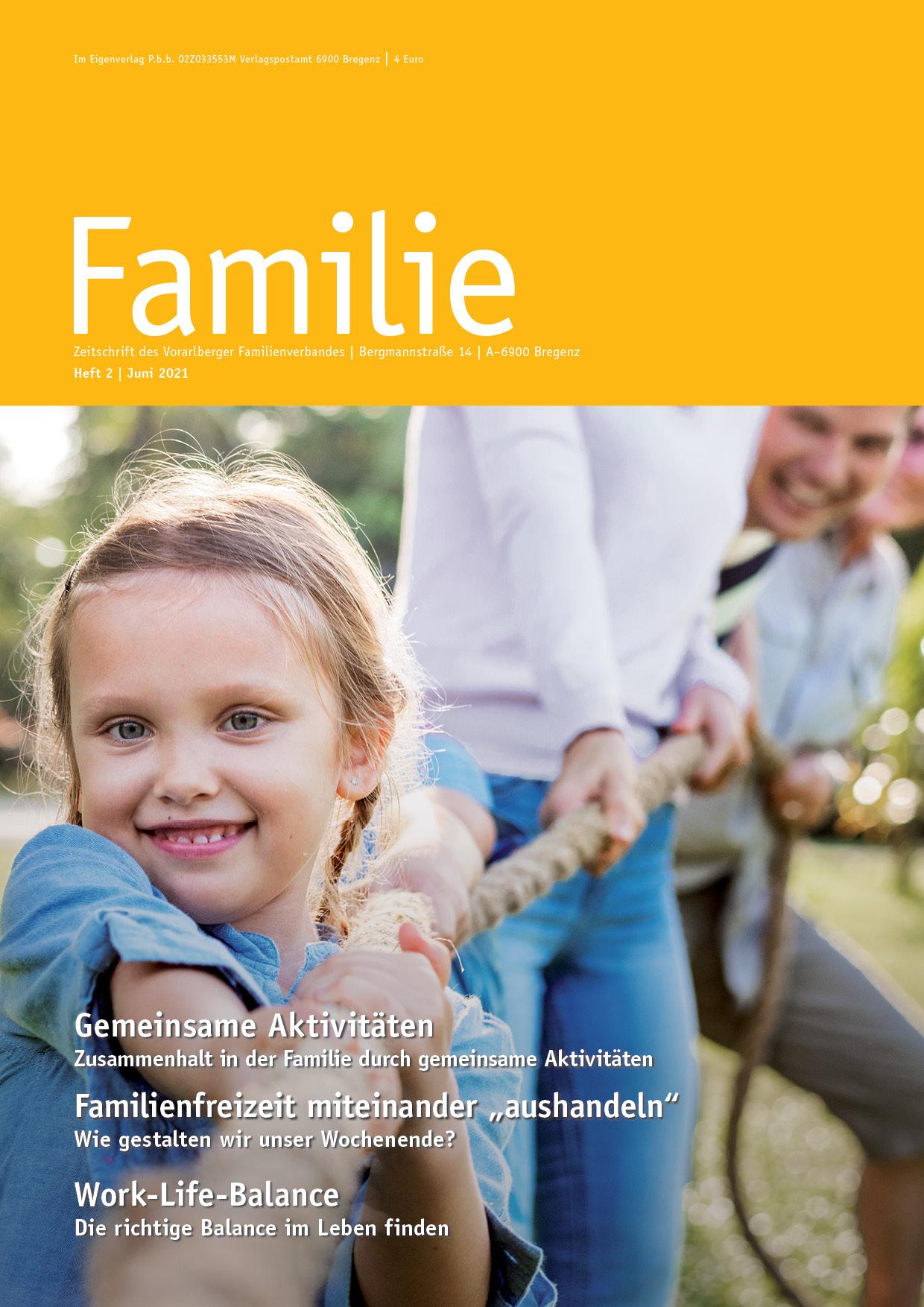 Zeitschrift FAMILIE: Sommerausgabe 2021