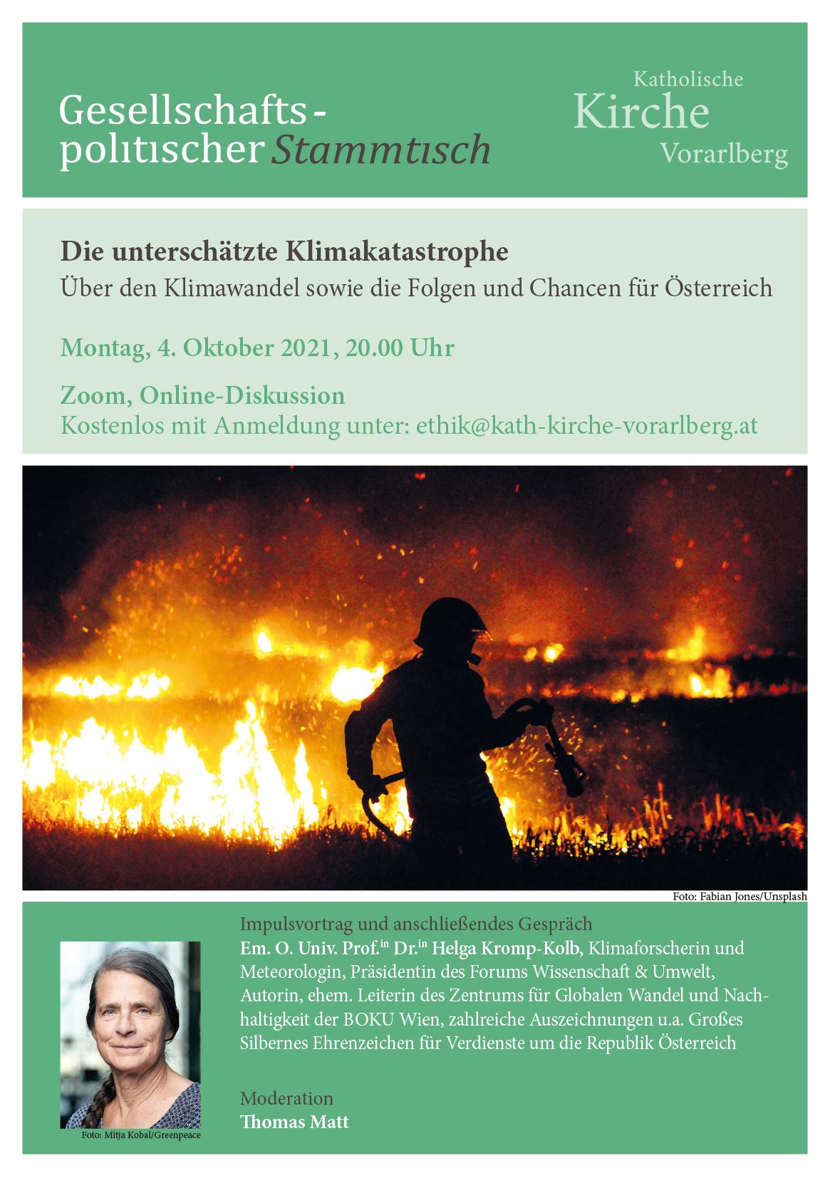 Online-Diskussion: Die unterschätzte Klimakatastrophe